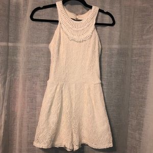 Other - Cream lacy romper